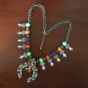 Squash Blossom-Inspired Necklace & Earrings Set